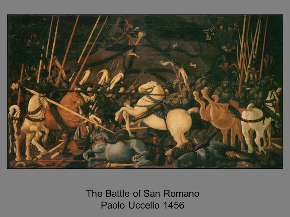 The Battle of San Romano Paolo Uccello 1456