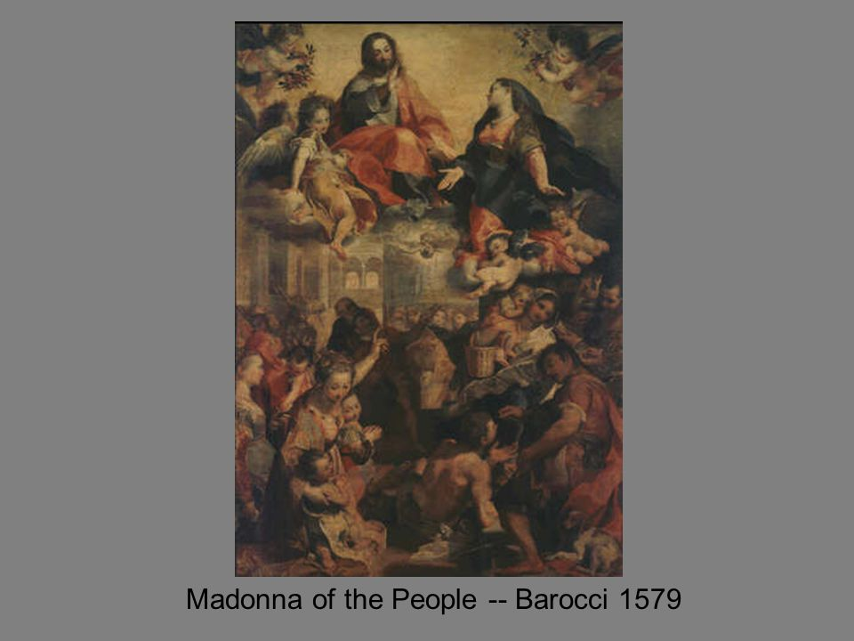 Madonna of the People -- Barocci 1579