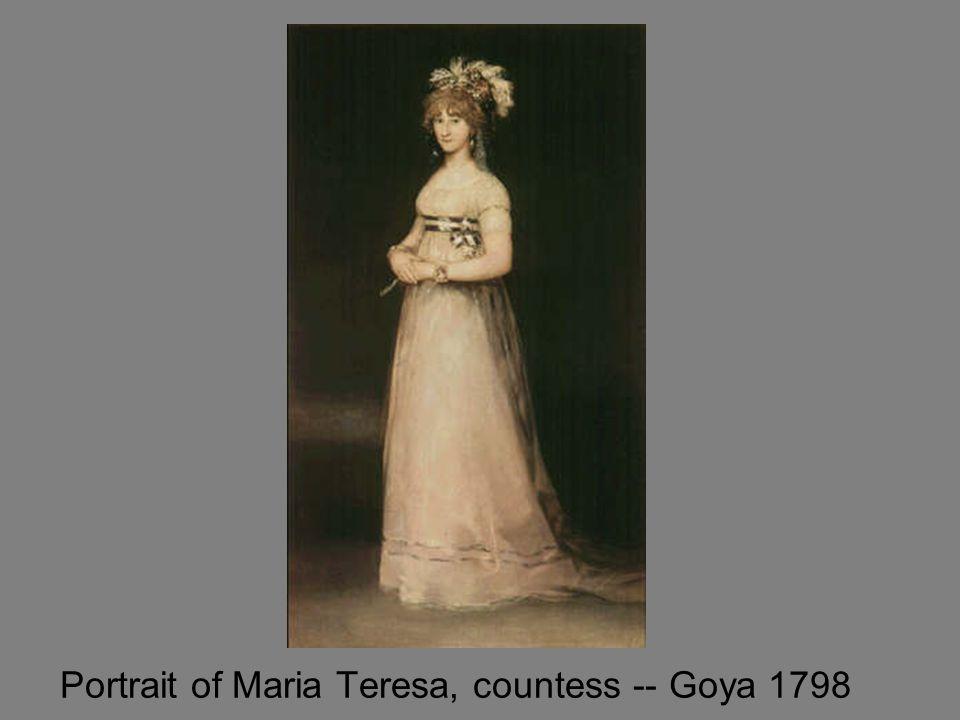 Portrait of Maria Teresa, countess -- Goya 1798