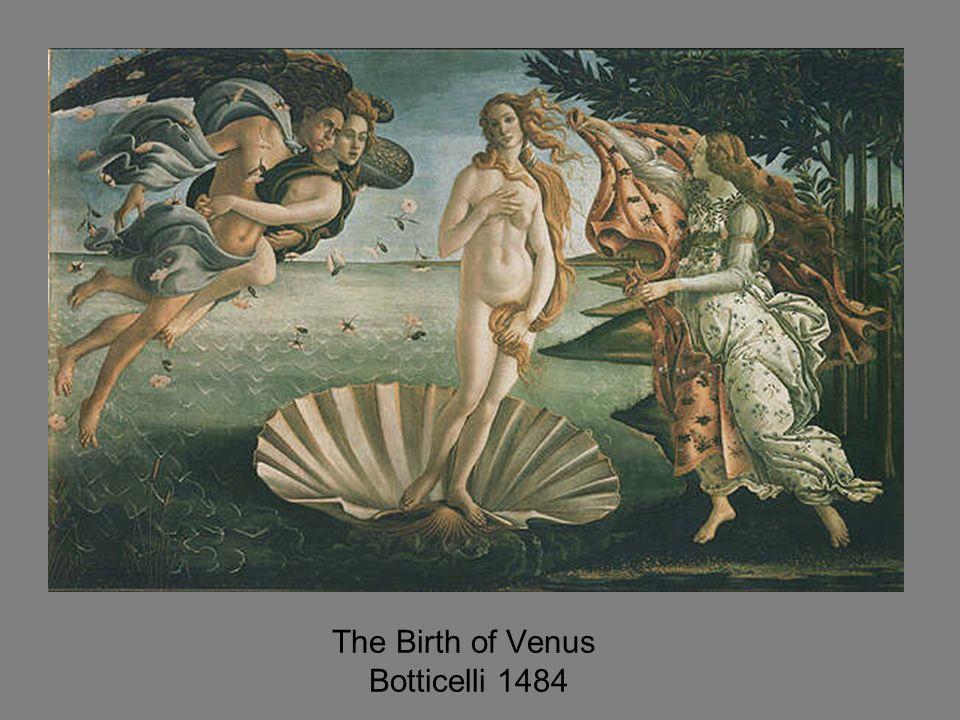 The Birth of Venus Botticelli 1484