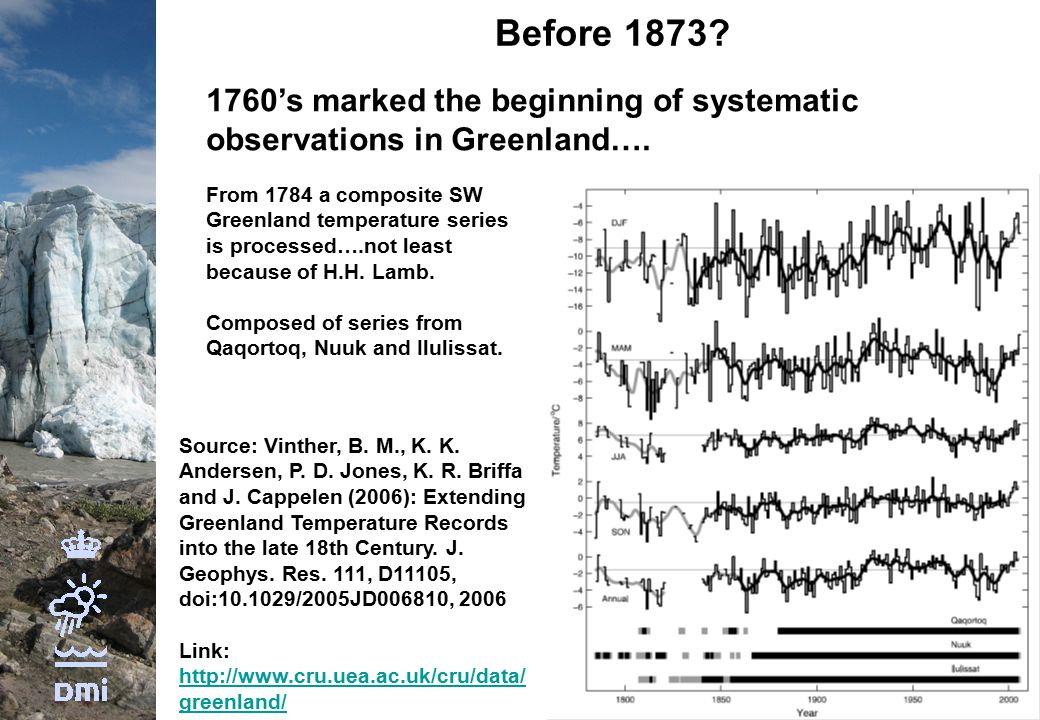 Before 1873. 1760's marked the beginning of systematic observations in Greenland….