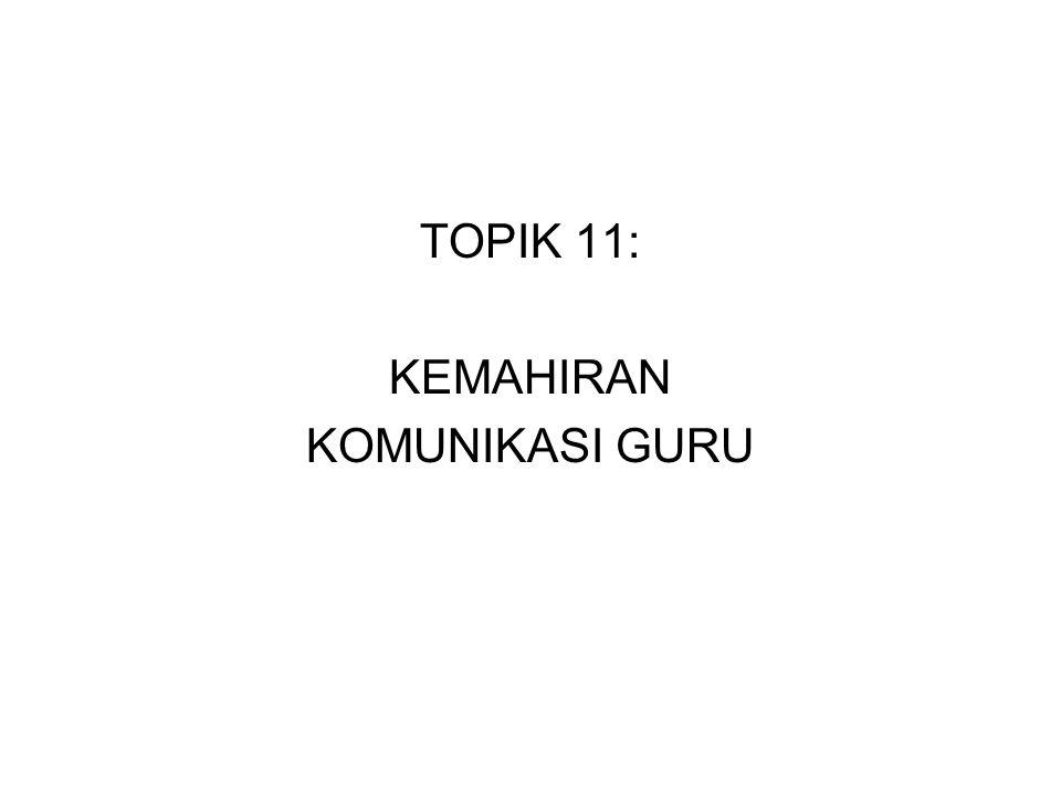 TOPIK 11: KEMAHIRAN KOMUNIKASI GURU
