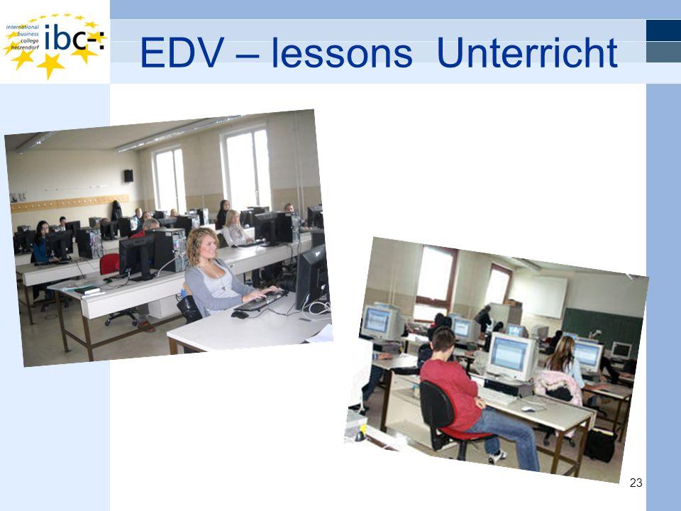 EDV – lessons Unterricht 23