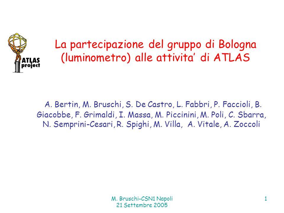 M. Bruschi-CSN1 Napoli 21 Settembre 2005 1 A. Bertin, M.