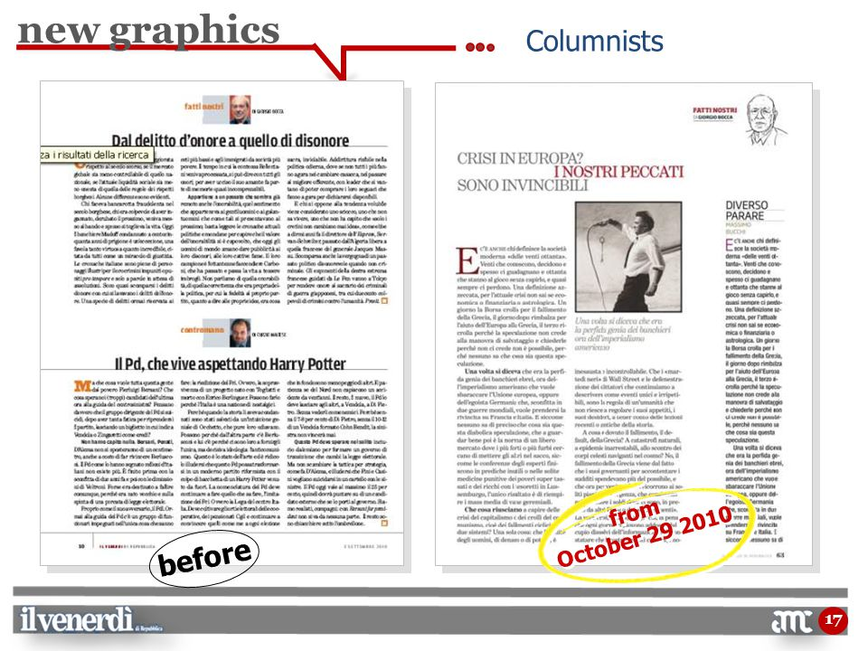 17 new graphics Columnists from October 29 2010 from October 29 2010 before