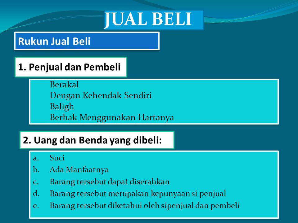 JUAL BELI a. Berakal b. Dengan Kehendak Sendiri c.