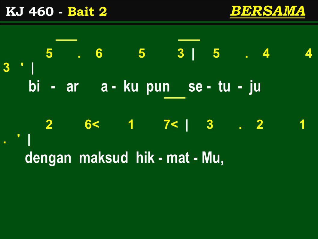 1.2 2 1 | 1 2 3 2 1 | meng - ha - yat - i dan per - ca - ya, 2.