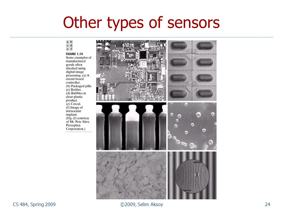 CS 484, Spring 2009©2009, Selim Aksoy24 Other types of sensors