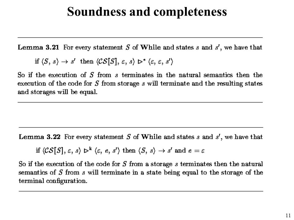 11 Soundness and completeness