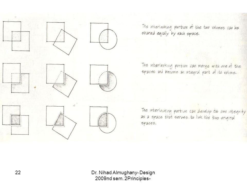 Dr. Nihad Almughany- Design Principles- 2nd sem. 2009 22