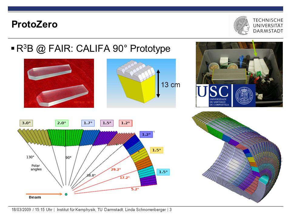 18/03/2009 / 15:15 Uhr | Institut für Kernphysik, TU Darmstadt, Linda Schnorrenberger | 4 ProtoZero Single-Response Function  Two energy windows measured:  2.6 – 3.9 MeV  6.2 – 7.1 MeV  Coincidence spectra fiber 70 – PZ trigger (60 ns gate)  (would have liked to choose center crystal as trigger) Scaled by 0.5.