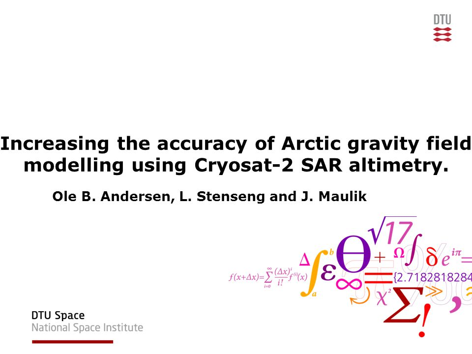 Increasing the accuracy of Arctic gravity field modelling using Cryosat-2 SAR altimetry.