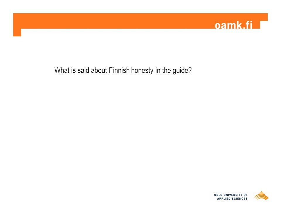 What is said about Finnish honesty in the guide?
