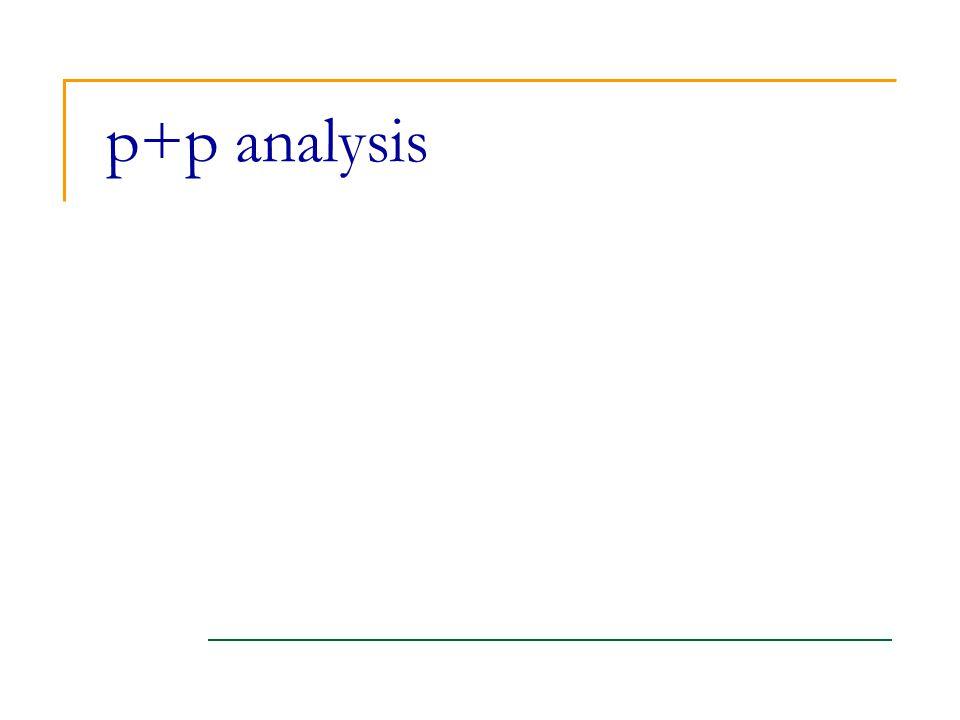 p+p analysis