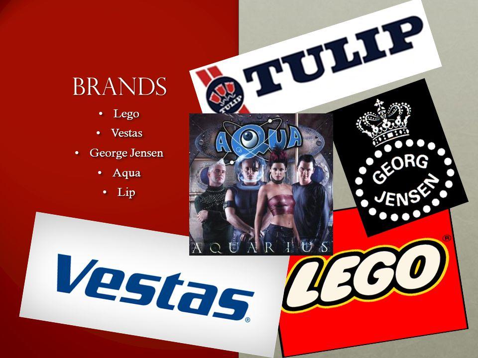 Brands Lego Lego Vestas Vestas George Jensen George Jensen Aqua Aqua Lip Lip Lego Lego Vestas Vestas George Jensen George Jensen Aqua Aqua Lip Lip