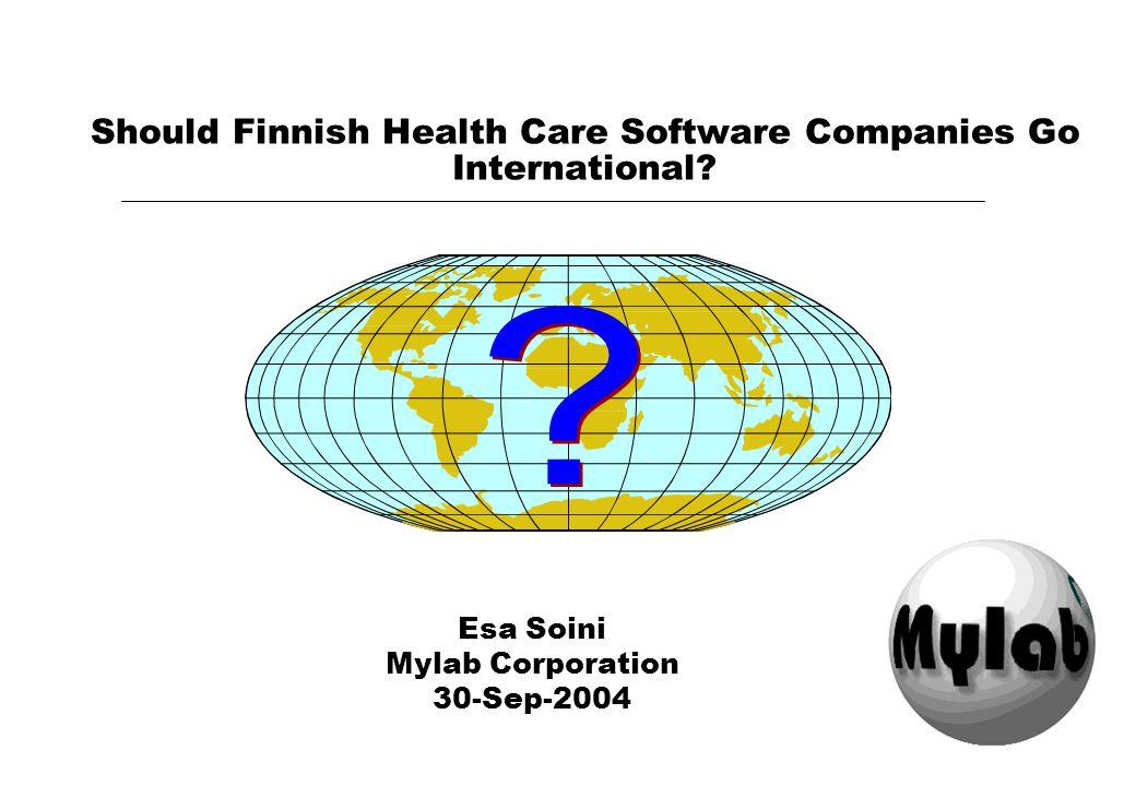 PlugIT 30-Aug-2004© Esa Soini Could Finnish HCIT Companies Go International?