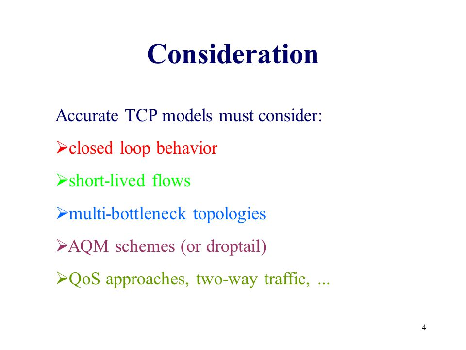 45 C.Casetti, M.Meo, A New Approach to Model the Stationary Behavior of TCP Connections , Infocom 2000 M.Garetto, R.Lo Cigno, M.Meo, E.Alessio, M.Ajmone Marsan, Modeling Short-Lived TCP Connections with Open Multiclass Queueing Networks , PfHSN 2002 A.Goel, M.Mitzenmacher, Exact Sampling of TCP Window States , Infocom 2002 Literature