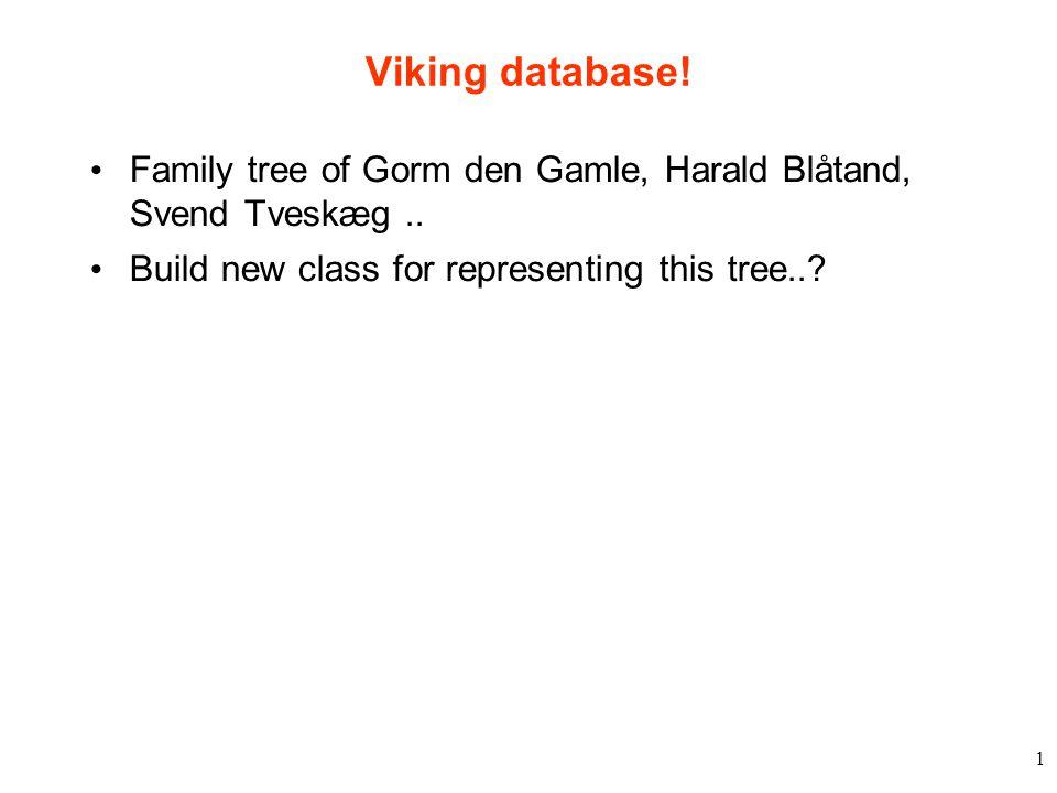 1 Viking database. Family tree of Gorm den Gamle, Harald Blåtand, Svend Tveskæg..