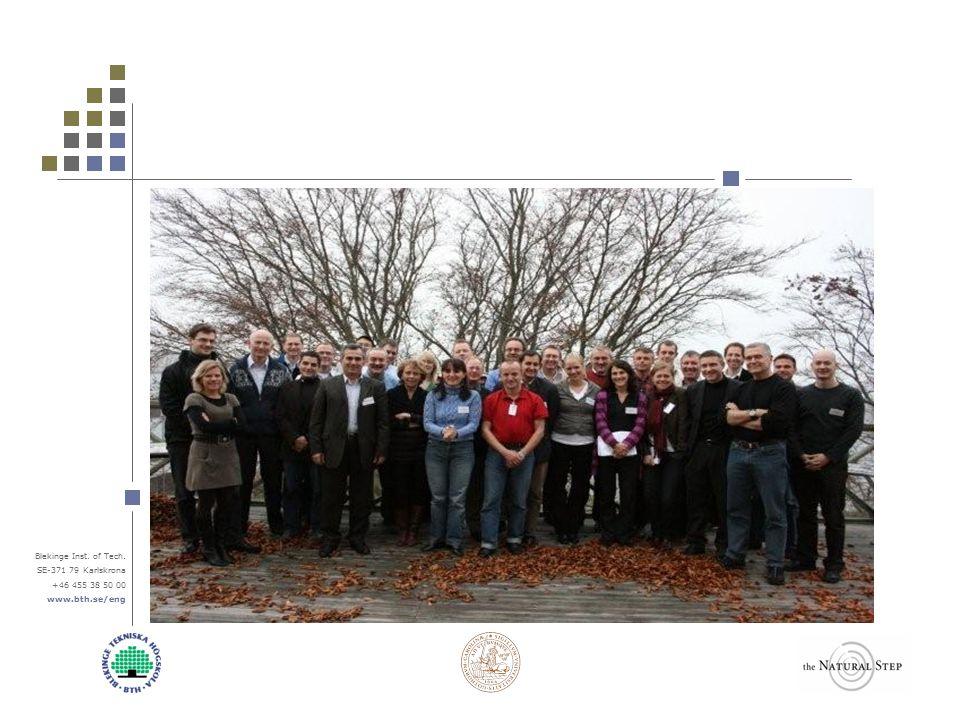 Blekinge Inst. of Tech. SE-371 79 Karlskrona +46 455 38 50 00 www.bth.se/eng