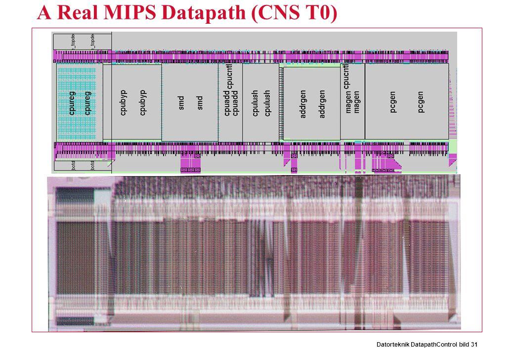 Datorteknik DatapathControl bild 31 A Real MIPS Datapath (CNS T0)