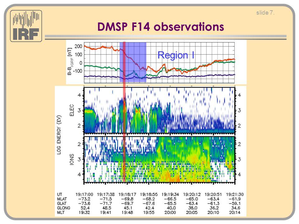 slide 7. DMSP F14 observations Region I