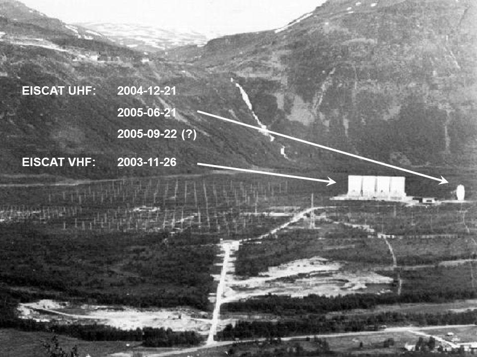 EISCAT VHF:2003-11-26 EISCAT UHF:2004-12-21 2005-06-21 2005-09-22 ( )