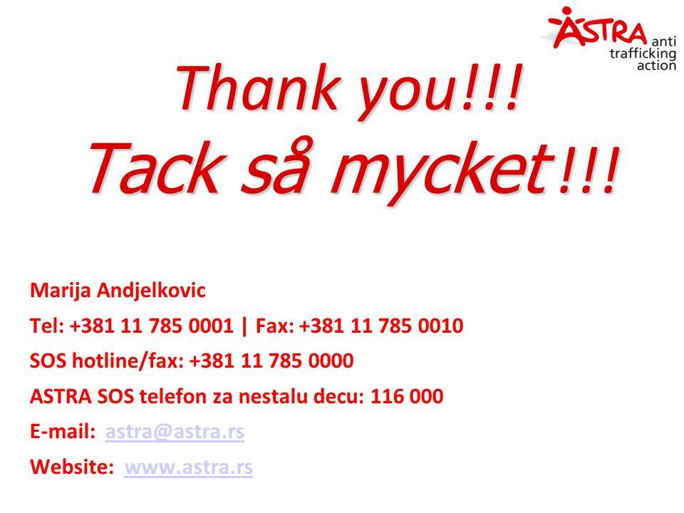 Thank you!!. Tack så mycket !!.