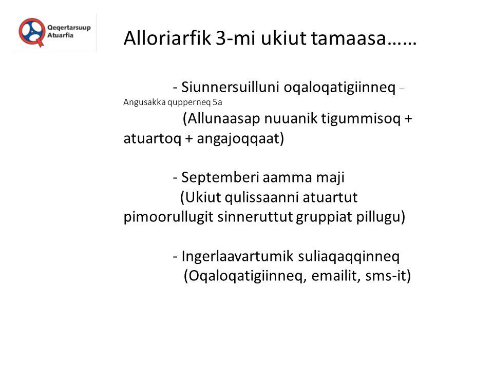 Alloriarfik 3-mi ukiut tamaasa…… - Siunnersuilluni oqaloqatigiinneq – Angusakka qupperneq 5a (Allunaasap nuuanik tigummisoq + atuartoq + angajoqqaat)