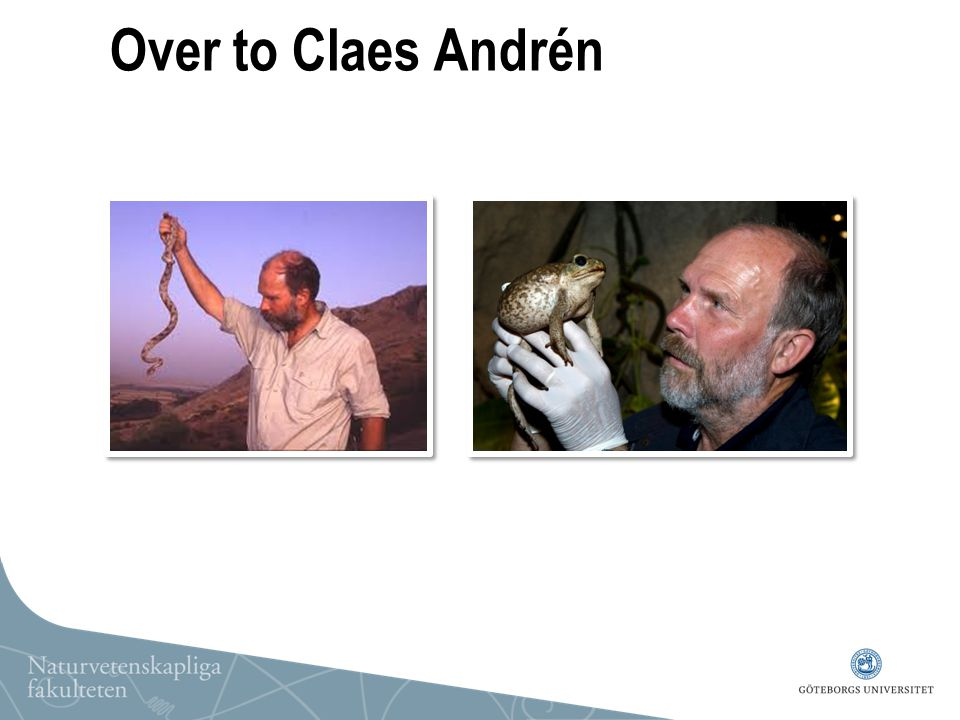 Over to Claes Andrén