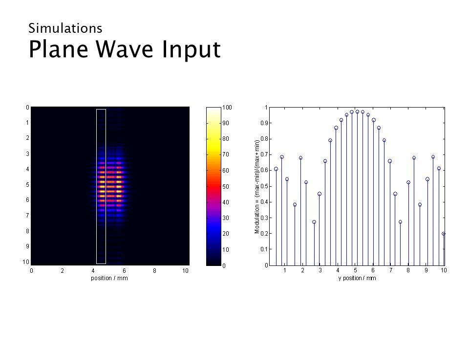Simulations Plane Wave Input