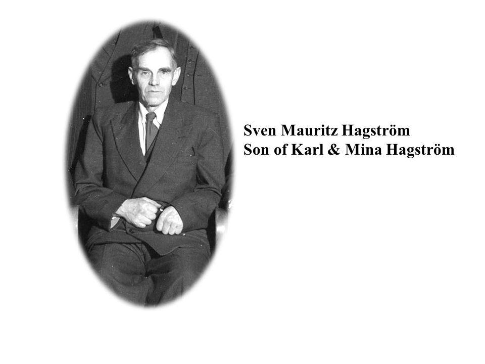 Sven Mauritz Hagström Son of Karl & Mina Hagström