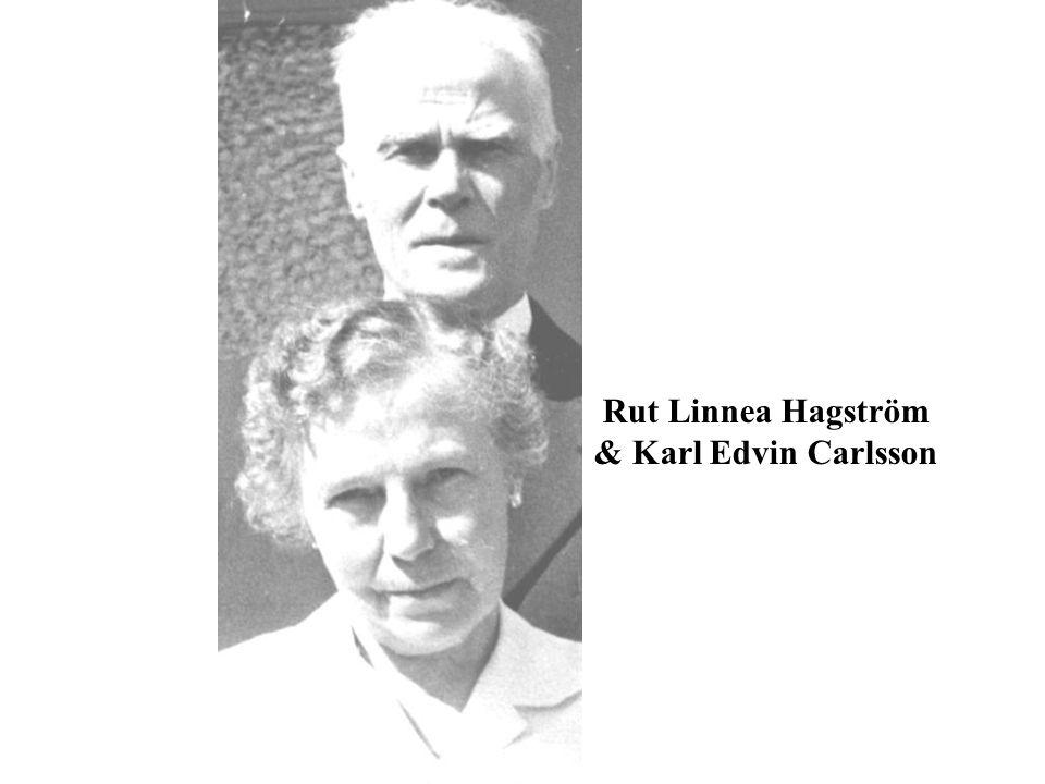 Rut Linnea Hagström & Karl Edvin Carlsson