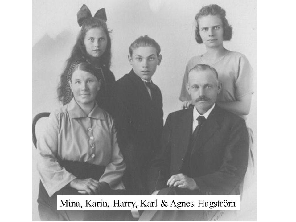 Hagströms: Ernst, Rut, Vilhelmina & Karl Hagström, Stina (Kinnermora), Nils Thure