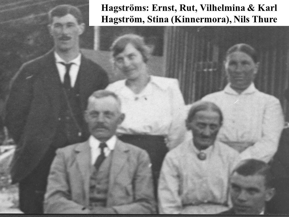 Rear: Ernst, Rut, Mina, ??, ?.Sitting: Karl, Stina, Mr./Mrs.