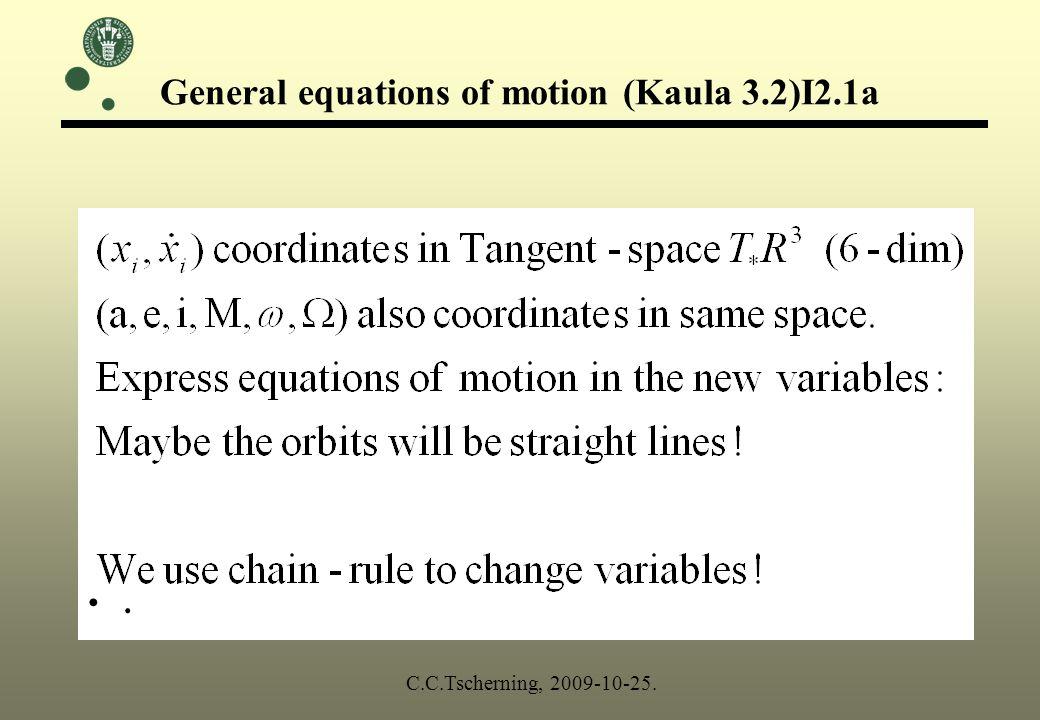 Change of variables. C.C.Tscherning, 2009-10-25.