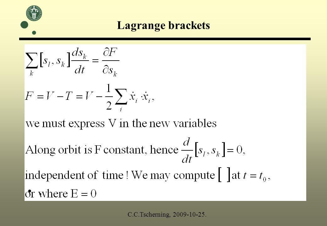 E=0. C.C.Tscherning, 2009-10-25.