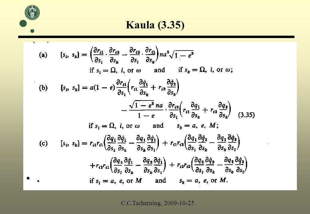 Kaula (3.35). C.C.Tscherning, 2009-10-25.