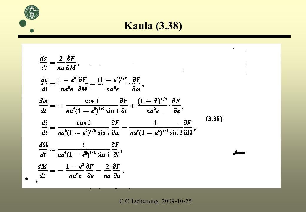 Kaula (3.38). C.C.Tscherning, 2009-10-25.