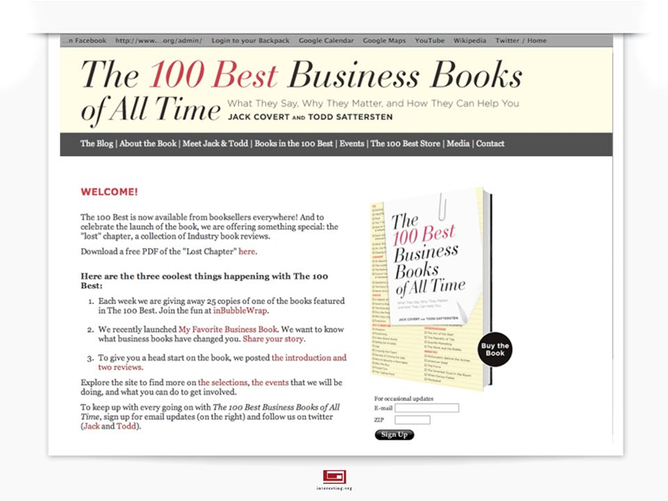 fredrik.haren@interesting.org The 100 Best Business Books of All Time