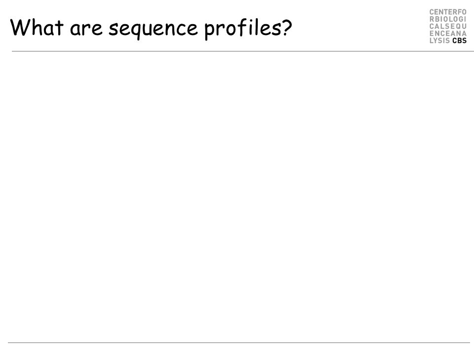 What are sequence profiles?