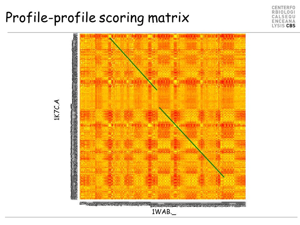 Profile-profile scoring matrix 1K7C.A 1WAB._