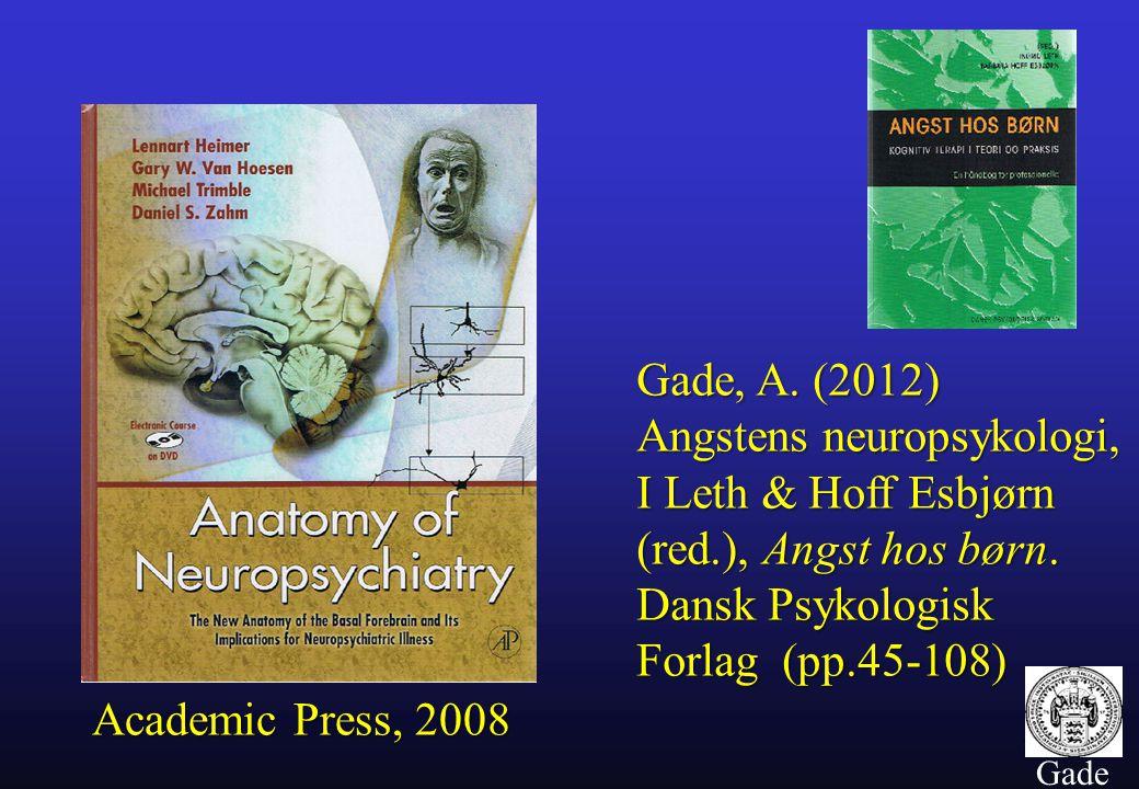 10 Gade Gade, A. (2012) Angstens neuropsykologi, I Leth & Hoff Esbjørn (red.), Angst hos børn.