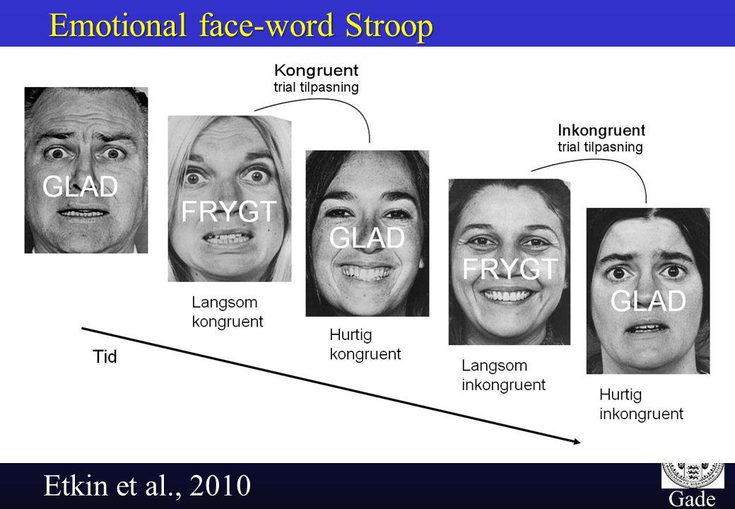 37 Gade Emotional face-word Stroop Etkin et al., 2010