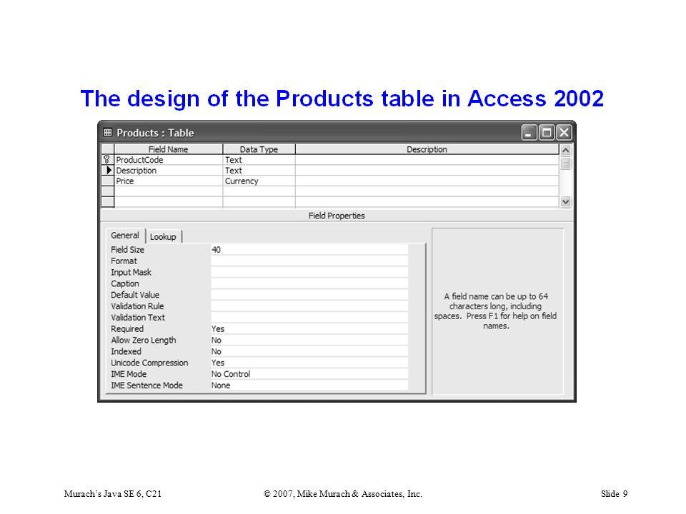 Murach's Java SE 6, C21© 2007, Mike Murach & Associates, Inc.Slide 40