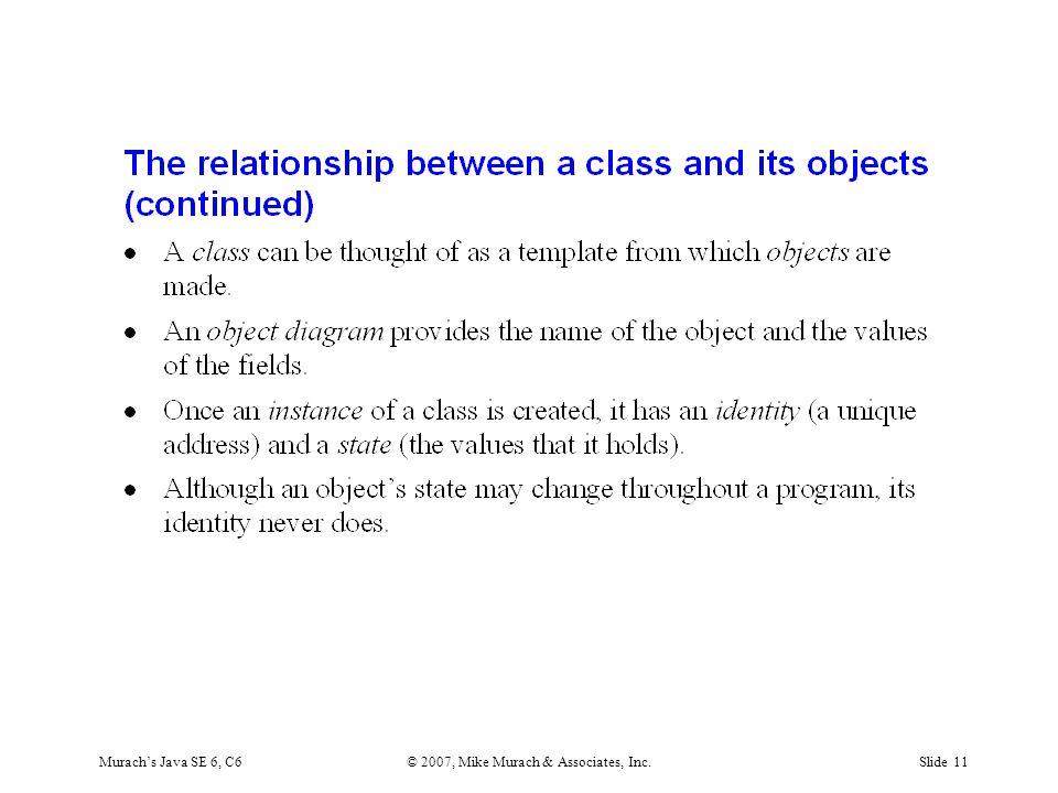 Murach's Java SE 6, C6© 2007, Mike Murach & Associates, Inc.Slide 11