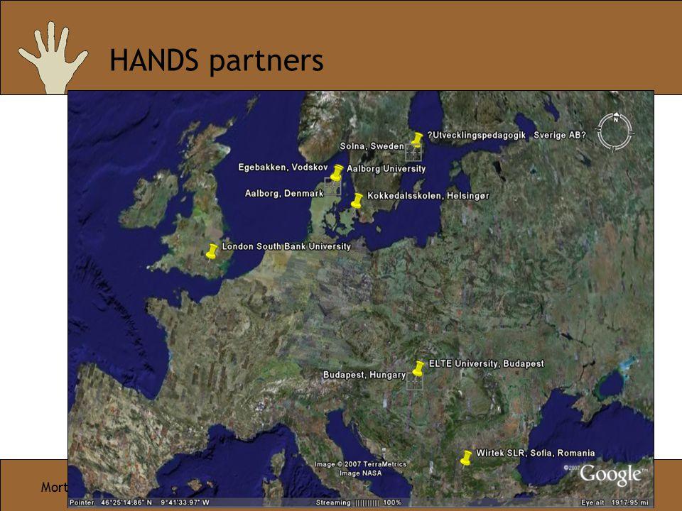 Morten Aagaaard HANDS - Ideas and Goals Page 5/10 HANDS partners