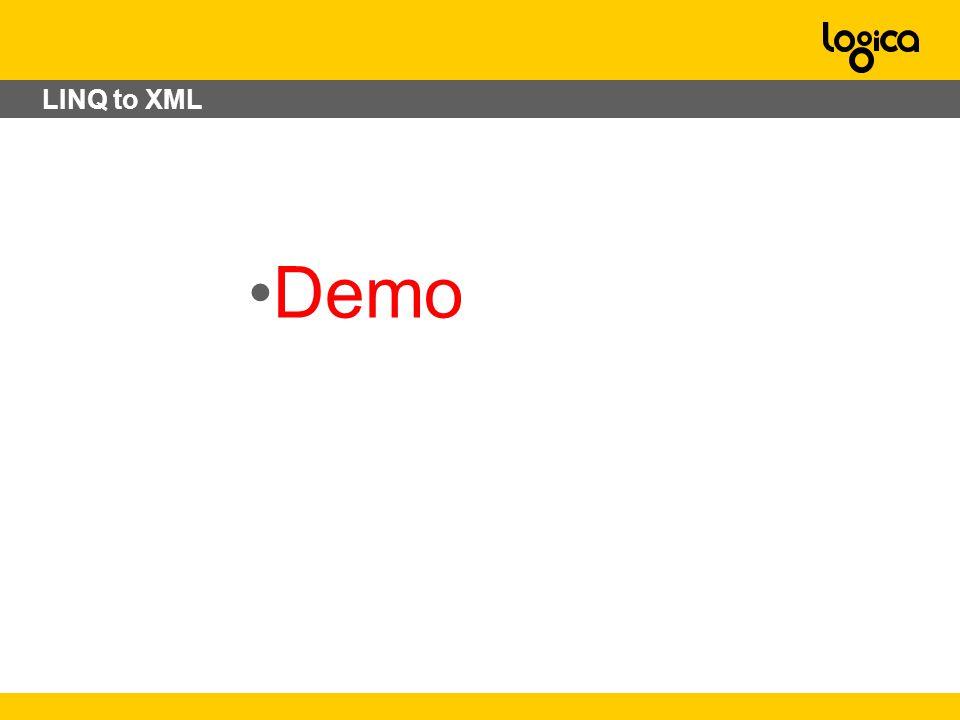 LINQ to XML Demo