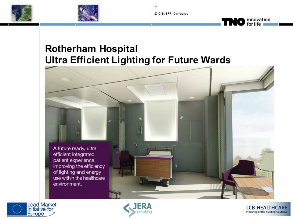 Rotherham Hospital Ultra Efficient Lighting for Future Wards 14 2012 Eu-SPRI Conference