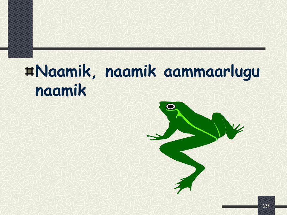 29 Naamik, naamik aammaarlugu naamik