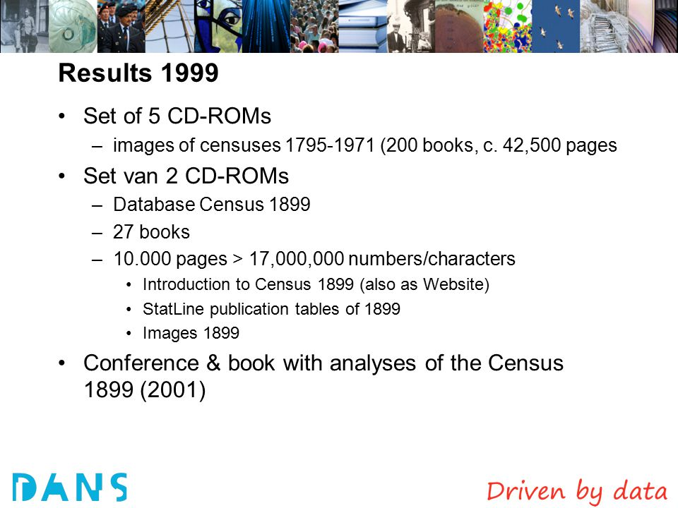 Results 1999 Set of 5 CD-ROMs –images of censuses 1795-1971 (200 books, c.